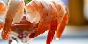 Shrimp cocktail Fireside Chophouse in WIilliamsburg VA