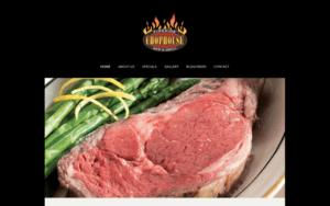 Fireside Chophouse Webpage Screenshot